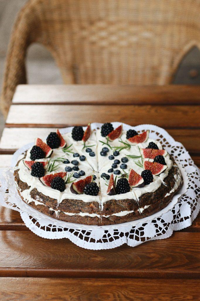 Makový dort s mascarpone bez lepku